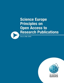 Cover of the Principles on Open Access to Research Publications